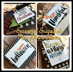 PLxSU Seasonal Snapshot Mini Albums Class Planner PDF by Erica Cerwin at Pink Buckaroo Designs- This class is designed to use the Project Life by Stampin' Up Seasonal Snapshot 2015 Cards and Accessory Kit. There are no stamps used in any of these projects. Included are tutorials for four mini albums: School, Halloween, Thanksgiving and Christmas. You will use a Paper Trimmer to tim down the majority of cards, so make sure you have one close by.
