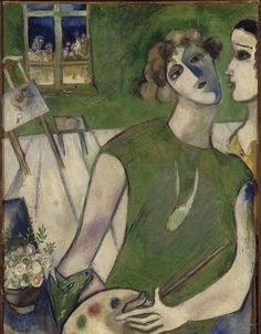 """""""Self-portrait in green, 1914 // by Marc Chagall """""""