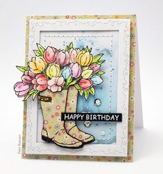 Trendy Ideas For Birthday Greetings Cards Handmade Stamps Birthday Card Sayings, Birthday Greeting Cards, Birthday Greetings, Birthday Images, Birthday Quotes, Birthday Wishes, Birthday Parties, Happy Birthday, Penny Black Cards