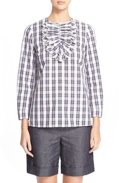 N°21 'Cecily' Plaid Blouse available at #Nordstrom