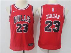 Chicago Bulls  23 Michael Jordan Youth Red Swingman Jersey 6efd013c7cb