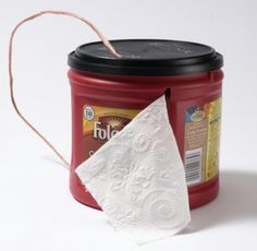 Use a coffee can to hold and protect toilet paper.