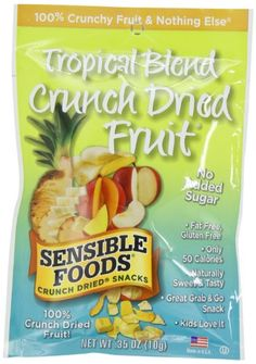 Sensible Foods Tropical Blend Crunch Dried Snacks Lunch box size 035Ounce Pack of 24 -- Learn more by visiting the image link. (Note:Amazon affiliate link)