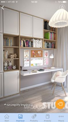 Cvet stor i mebeli Home Office Space, Home Office Design, Home Office Decor, Home Decor, Deco Studio, Study Room Design, Kids Bedroom Designs, Teenage Room, Furniture Design