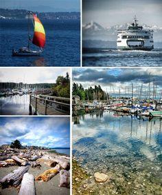 Bainbridge Island via Seattle Ferry