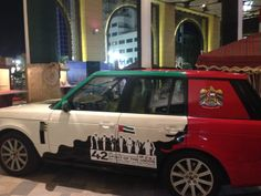 National Day themed cars at our Emirati 42 Heritage Village during the UAE National Day celebrations 2013.