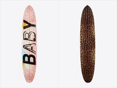 "SAINT LAURENT SURF BOARD 815,000円 (税抜き) 左から""BABY"" ""BABYCAT"""