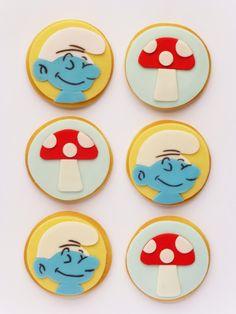 Smurfs Cookies • Bolachinhas Estrumfes (Peaceofcake ♥ Sweet Design)