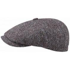 Casquette hatteras harris tweed stetson