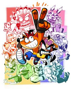 "rariatoo: "" crash bandicoot in japan 20th anniversary!!! and Crash Bandicoot N.Sane Trilogy Congratulations!!! """