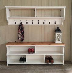 This listing is a place holder to advertise our discount when a hall bench and coat rack are bought together as a set. *** PLEASE DO NOT BUY THIS LISTING - SEE BELOW *** You can choose any style of coat rack and hall bench combination, in any size, and ge Shoe Rack And Coat Hook, Coat And Shoe Storage, Coat Rack Shelf, Coat Hooks, Shoe Racks, Coat Hanger, Hall Bench, Shoe Bench, Hallway Storage