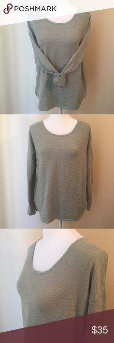 "Madewell | Oversized Long Sleeve Top Super soft oversized sweatshirt top by Madewell!  •D E T A I L S•  Size: Small Brand: Madewell Color: Green Bust: 21.5"" laid flat Waist: 24.5"" Length: 26.5"" Material: 80% Cotton 20% Nylon Description: Oversized light sweatshirt with long sleeves in a beautiful green hue is perfect for all seasons. Layer it in winter or throw it on during a cool summer evening. In like-new condition! Madewell Tops Tees - Long Sleeve"