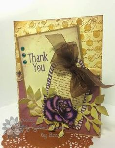 Card made with embossing paste, Spectrum Noir Markers and Sizzix die cuts. The Damsel of Distressed Cards