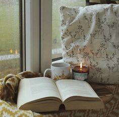 Nothing better than a candle and a book