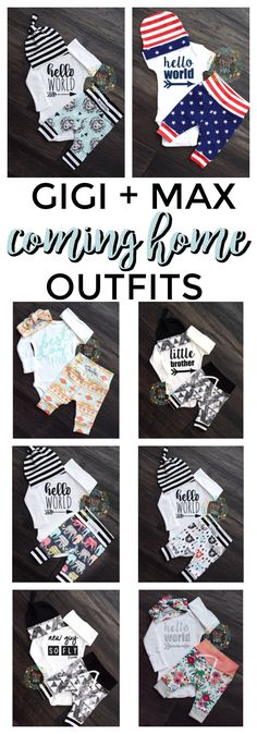 We offer a wide variety of coming home outfits! Bring your baby home in style :). Only at www.gigiandmax.com