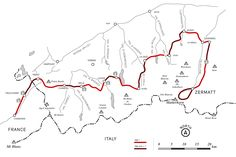 carte de la haute route chamonix-zermatt
