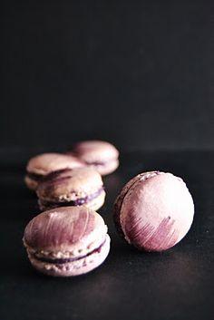(Portuguese) Macarons de Mirtílo | Macarons with Blueberry Curd