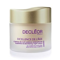 #Decleor Sublime Re-Densifying Night Cream 50ml is an evening moisturiser to wake up to smooth, firm skin.