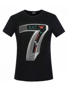 Armani EA7 camiseta hombre negra