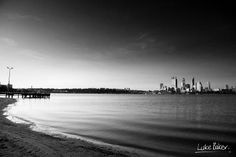 Look at this beautiful black & white picture of Perth...Love it!  #Australia #Perth #Photography