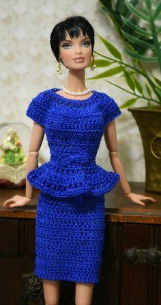 2 piece crochet fashion for Fashion Royalty doll , Sheer Goddess