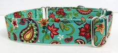 Paisley Adjustable Martingale Dog Collar  Made by JinsK9Kreations