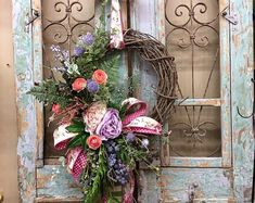 Excited to share this item from my shop: Fall Wreath, Pumpkin Wreath, Fall Door Decor, Thanksgiving Wreath Thanksgiving Wreaths, Easter Wreaths, Holiday Wreaths, Halloween Wreaths, Fall Halloween, Holiday Crafts, Fall Swags, Christmas Swags, Moss Wreath