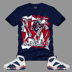 1b7213fac52590 1992 T-Shirt in Navy to match the Jordan 7 Tinker Alternate Olympic Sneakers