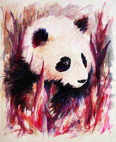 Panda Painting  - Panda Fine Art Print