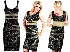 Damned Dress by Too Fast Clothing - Vintocto - SALE sz Med & Lg only