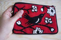 beautiful cross stitch purse