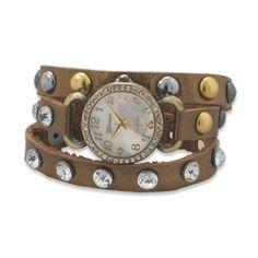 Bronze Leather Wrap Watch - $48.00
