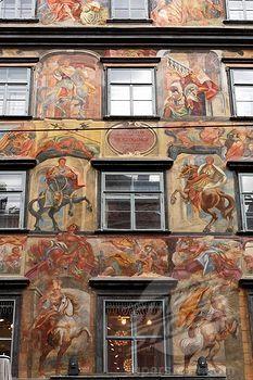 Painted Austria   ... , Painted House in Herrengasse alley, Graz, Styria, Austria, Europe