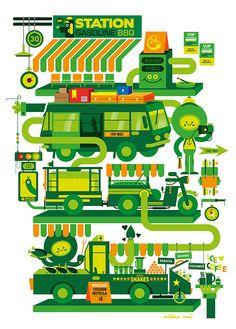 Station - Mikko Umi Illustration