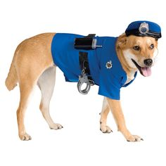 Police Dog Halloween Costume.  Awesome if you want to take your dog with you when wearing Sexy Cop Costume. #costumesfordogs