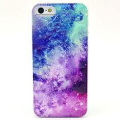 Kinston The Milky Way Pattern PC Phone Back Cover Case for iPhone 5 5S... (14 RON) ❤ liked on Polyvore featuring accessories, tech accessories, phone cases and phone