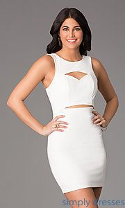 Buy Short Sleeveless Scoop Neck Dress  at SimplyDresses