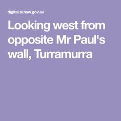 Looking west from opposite Mr Paul's wall, Turramurra