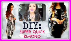 DIY: Super Quick Kimono!   NO SEW