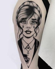 Search inspiration for a Blackwork tattoo. B Tattoo, Tattoo Life, Tattoo Band, Tattoo Artwork, Pin Up Tattoos, Picture Tattoos, Tattoo Drawings, New Tattoos, Cool Tattoos