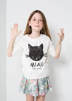 Miau sweater #SS14 #Kids #Girls