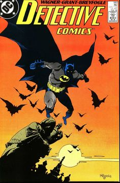 Detective Comics #583, February 1988, cover by Mike Mignola and Anthony Tollin