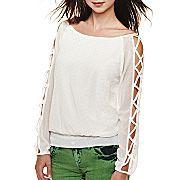 Heart & Soul® Long-Sleeve Mini Stud Blouse