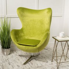 Glendon Arne Jacobsen Style New Velvet Swivel Contour Egg Chair Modern Swivel Chair, Swivel Club Chairs, Upholstered Swivel Chairs, Chair Upholstery, Kids Hanging Chair, Hanging Chair From Ceiling, Cheap Adirondack Chairs, Cheap Chairs, Pouf Chair