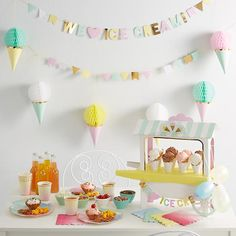 Ice Cream Party Collection - by Meri Meri - via Land of Nod