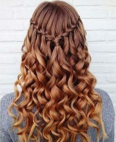 Easy Hairstyles for Work - Waterfall Curly Sue - Quick and Easy Hairstyles For The Lazy Girl. Great Ideas For Medium Hair, Long Hair, Short Hair, The Undo and Shoulder Length Hair. DIY And Step By Step - https://thegoddess.com/easy-hairstyles-for-work