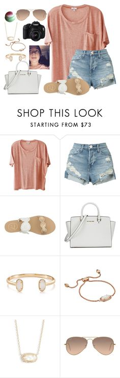 """~taylor takeover💓~"" by mackenzielacy814 on Polyvore featuring Clu, 3x1, Jack Rogers, Michael Kors, Kendra Scott and Ray-Ban"