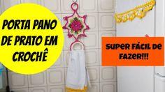 #DIY PORTA PANO DE PRATO EM CROCHÊ SUPER FÁCIL DE FAZER!!! https://www.youtube.com/watch?v=g8T-UOCvkf8