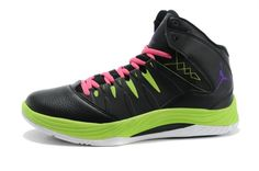 Jordan Prime Flight Black/Neon Green/Pink For Wholesale Pink Jordans, Cheap Jordans, Jordans For Men, Kobe 9 Shoes, Kd 6 Shoes, Jordan Shoes, Air Jordan, Kevin Durant Basketball Shoes, Kevin Durant Shoes