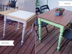 DIY/refurbished kitchen table for the patio - cost effective & super easy! | The Mombot